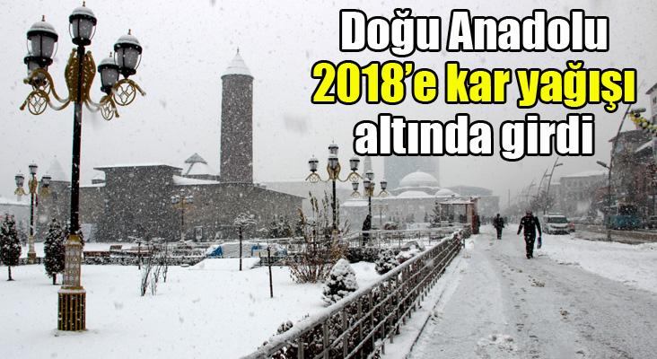 Doğu Anadolu 2018'e kar yağışı altında girdi