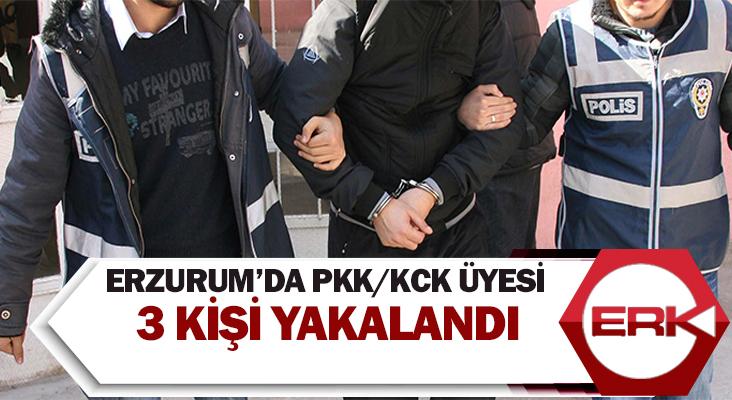 Erzurum'da Pkk/kck üyesi 3 kişi yakalandı