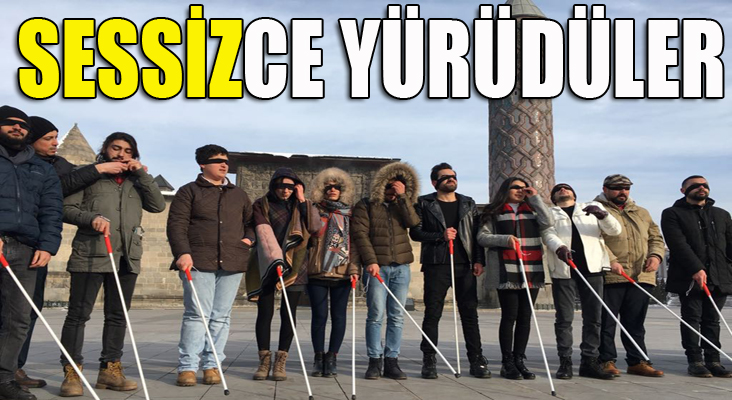 Erzurum'da sessiz yürüyüş
