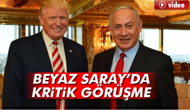 ABD Başkanı Donald Trump, İsrail Başbakanı Binyamin Netanyahu ilk kez bir arada