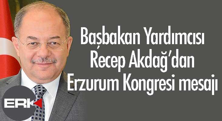 Akdağ'dan Erzurum Kongresi mesajı