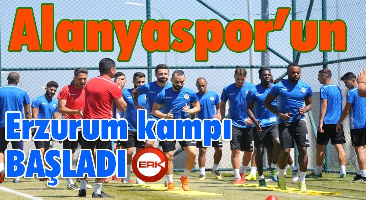 Alanyaspor'un Erzurum kampı başladı