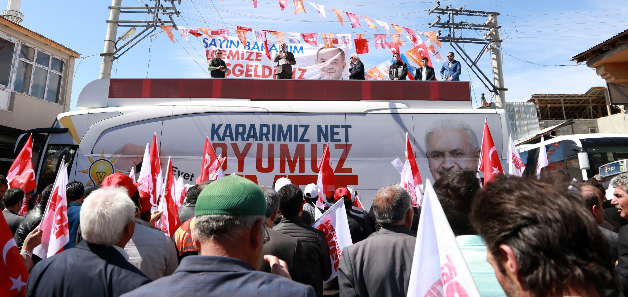 Bakan Akdağ ve Başkan Sekmen Karaçoban'da yeni sistemi anlattı