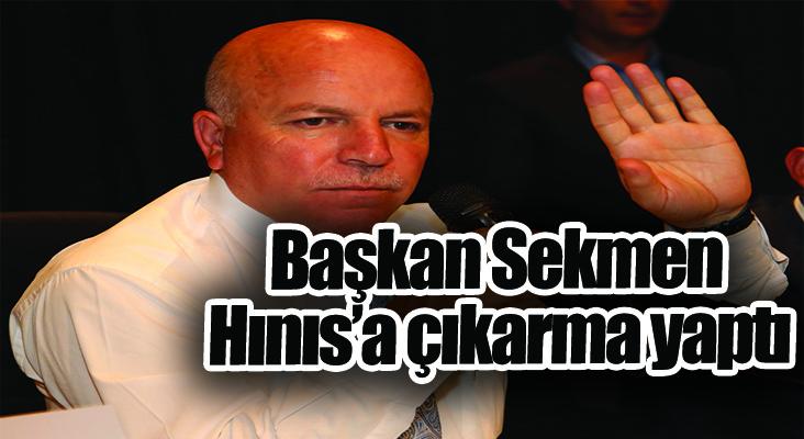 Başkan Sekmen Hınıs'a çıkarma yaptı