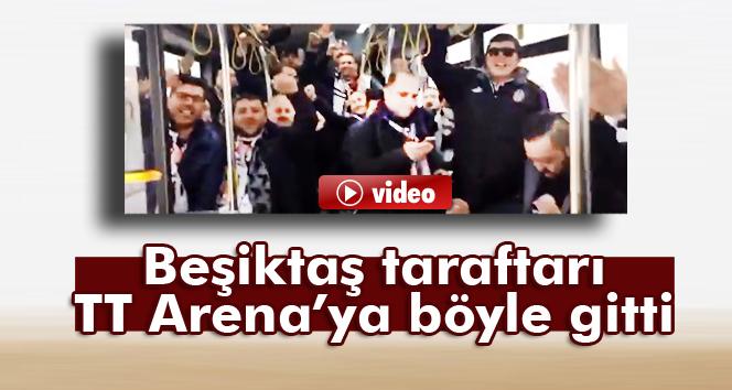 Beşiktaş taraftarı TT Arena'ya böyle gitti