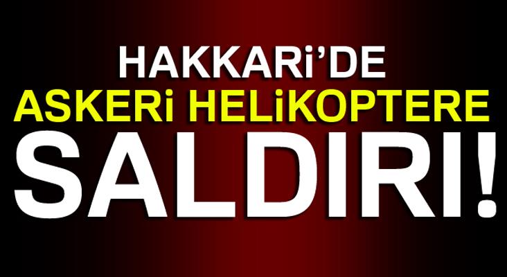 Çukurca'da askeri helikoptere roketli saldırı