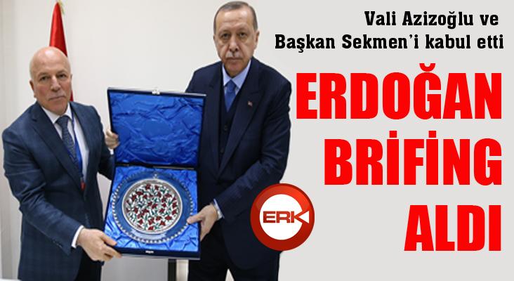 Cumhurbaşkanı Erdoğan, Erzurum Valisi ve Büyükşehir Belediye Başkanını kabul etti