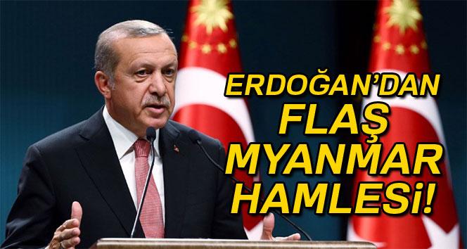 Cumhurbaşkanı Erdoğan'dan Myanmar hamlesi