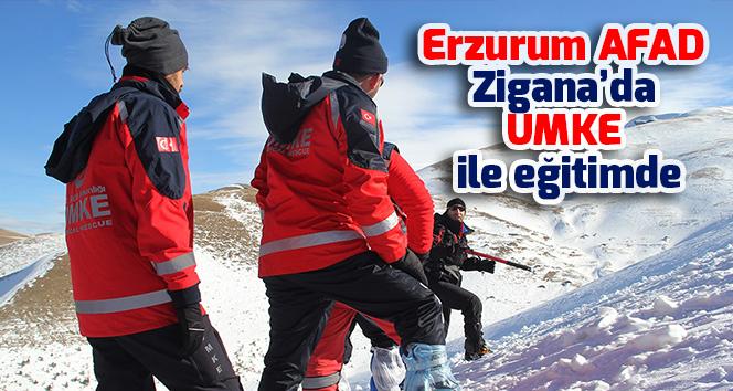 Erzurum AFAD Zigana'da UMKE ile eğitimde