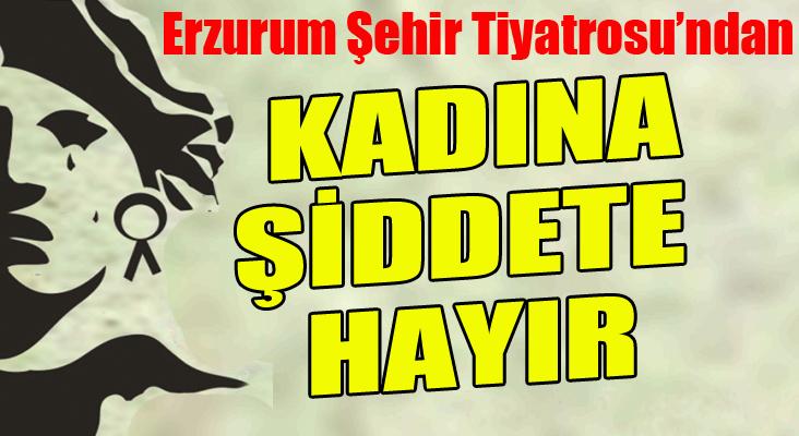 """Erzurum Şehit Tiyatrosu'ndan """"Kadına Şiddete hayır"""""""