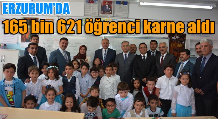 Erzurum'da 165 bin 621 öğrenci karne aldı
