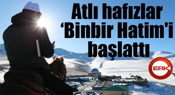 Erzurum'da atlı hafızlar '1001 Hatim' duasına başladı