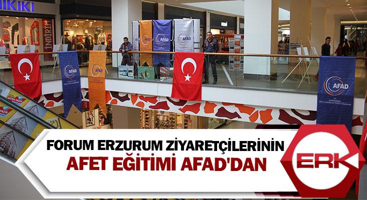 Forum Erzurum ziyaretçilerinin Afet Eğitimi AFAD'dan