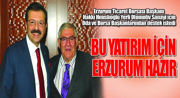 Hınıslıoğlu,Yerli Otomotiv Sanayi İçin Destek İstedi