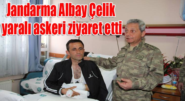 Jandarma Albay Çelik, yaralı askeri ziyaret etti