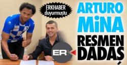 Arturo Mina resmen Erzurumspor'da...