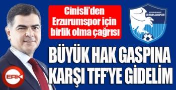 Cinisli'den Erzurumspor'un yaşadığı hak gaspına karşı birlik çağrısı...