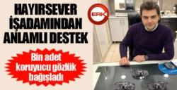 Erzurum'da iş adamından anlamlı destek