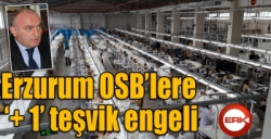Erzurum OSB'lere '+ 1' teşvik darbesi...