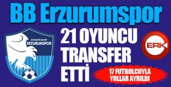 Erzurumspor kadrosunu 21 oyuncuyla güçlendirdi...