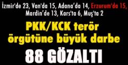 PKK/KCK terör örgütüne büyük darbe: 88 gözaltı