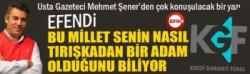 Usta Gazeteci Mehmet Şener'den çok konuşulacak yazı