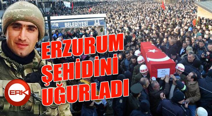 Şehit Teğmen'i, 20 bin Erzurumlu son yolculuğuna uğurladı