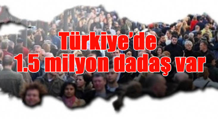 Türkiye'de 1.5 milyon dadaş var