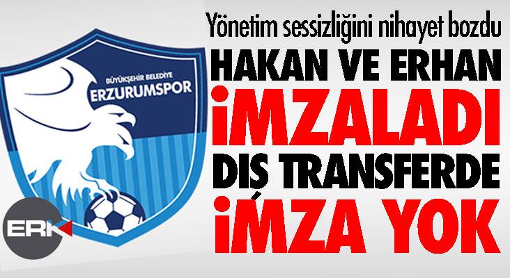 Yönetim açıkladı, kaleci Hakan ile Erhan imzaladı, dış transferde imza yok!