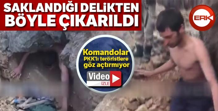 1 teröristin ölü, 1 teröristin sağ olarak yakalandığı operasyona ilişkin yeni görüntüler ortaya çıktı