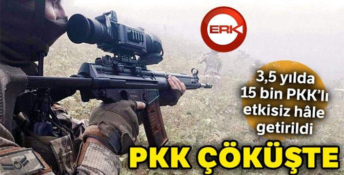 3,5 yılda 15 bin PKK'lı etkisiz hâle getirildi