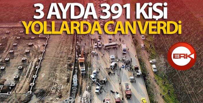 3 ayda 391 kişi yollarda can verdi