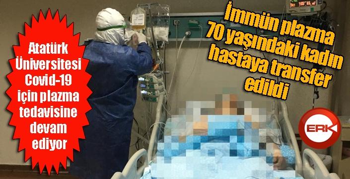 Atatürk Üniversitesi Covid-19 için plazma tedavisine devam ediyor