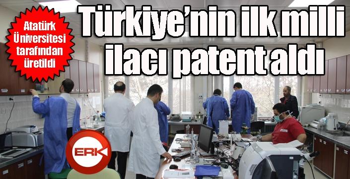 Atatürk Üniversitesi'nde üretildi... Türkiye'nin ilk milli ilacı patent aldı