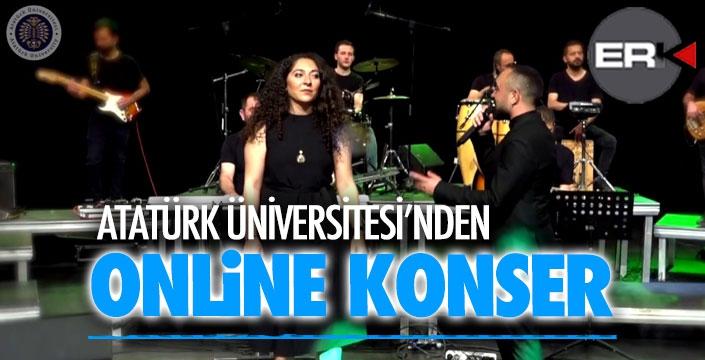 Atatürk Üniversitesi'nden öğrencilere online konser