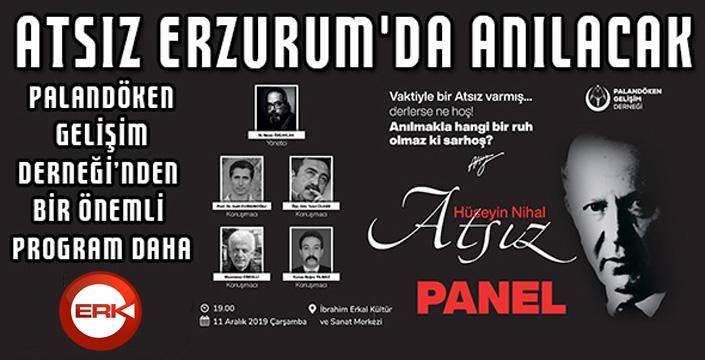Atsız Erzurum'da anılacak...