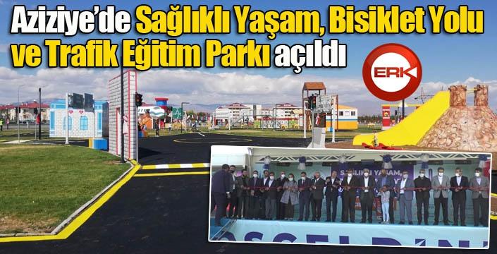 """Aziziye'de """"Sağlıklı Yaşam, Bisiklet Yolu ve Trafik Eğitim Parkı"""" açıldı..."""