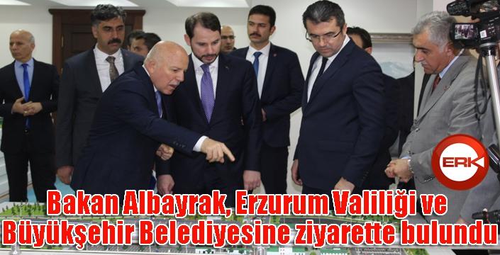 Bakan Albayrak, Erzurum Valiliği ve Büyükşehir Belediyesine ziyarette bulundu