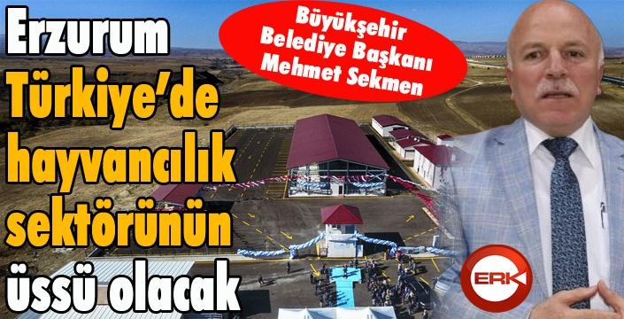 """Başkan Sekmen: """"Erzurum, Türkiye'de hayvancılık sektörünün üssü olacak"""""""