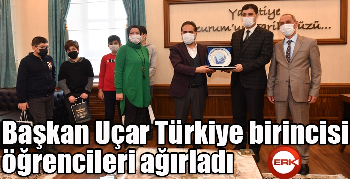 Başkan Uçar Türkiye birincisi öğrencileri ağırladı