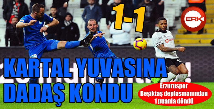 BB Erzurumspor Beşiktaş deplasmanından 1 puanla döndü