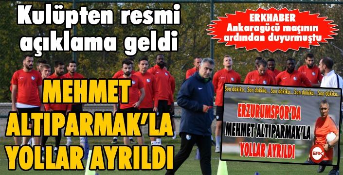 BB Erzurumspor'da Teknik Direktör Altıparmak ile yollar ayrıldı