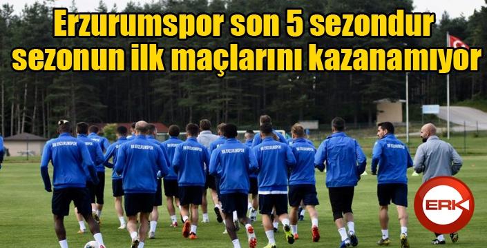 BB Erzurumspor son 5 sezondur sezonun ilk maçlarını kazanamıyor