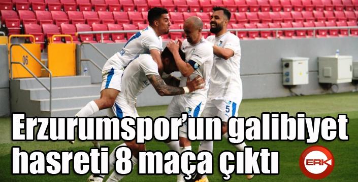 BB Erzurumspor'un galibiyet hasreti 8 maça çıktı