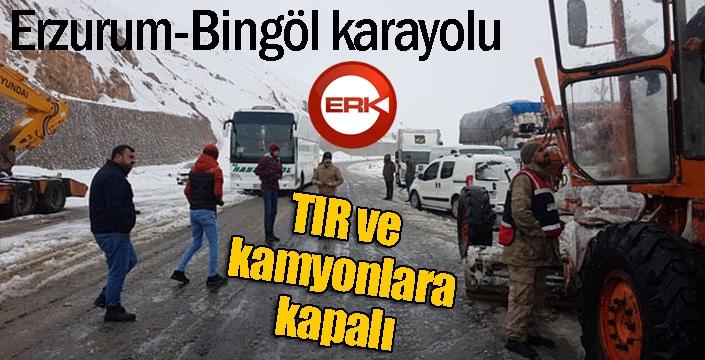 Bingöl-Erzurum karayolu büyük araç trafiğine kapatıldı