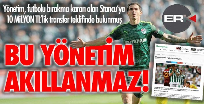 Bir Erzurumspor klasiği... Futbolu bırakma kararı alan Stancu'ya servet önerdik!