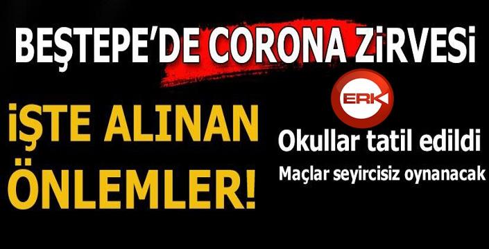 Corona virüs toplantısı sona erdi! Okullar tatil edildi