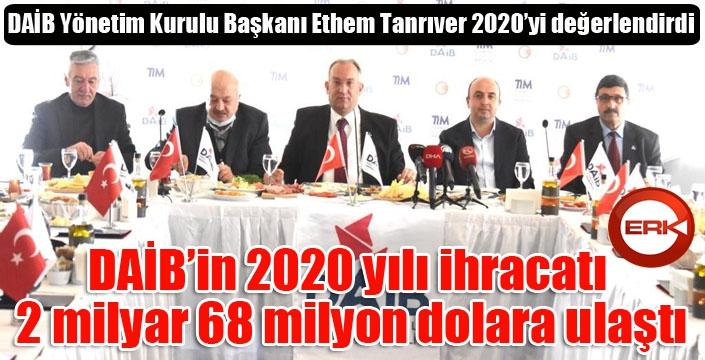 DAİB Yönetim Kurulu Başkanı Tanrıver, 2020'yi değerlendirdi...