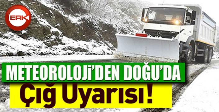Doğu Anadolu Bölgesi için çığ uyarısı