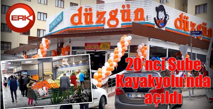 Düzgün Market'in 20'nci şubesi Kayakyolu'nda açıldı
